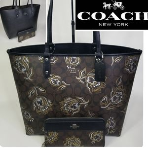 COACH SET SIGNATURE 2 in 1 BAG + WALLET DESIGNER